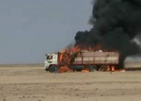 قصف شاحنة مدنية في منطقة الكاعة جنوب السبطي
